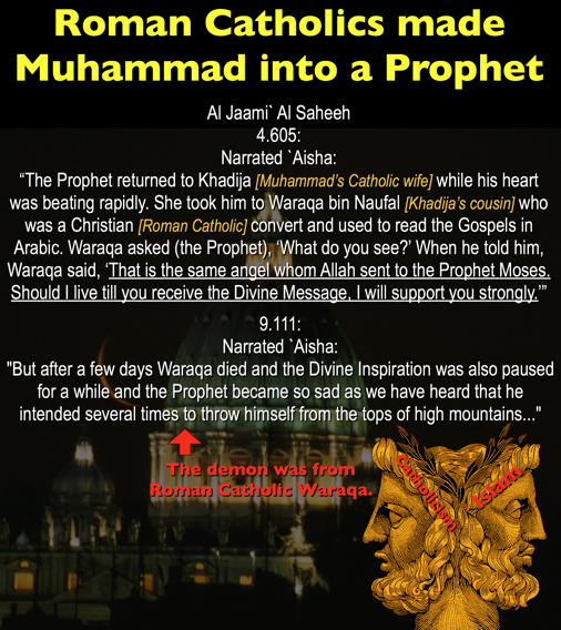 1. Roman Catholics made Muhammad into a prophet.png